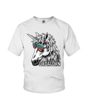 Dadacorn Unicorn Dad T-Shirt Youth T-Shirt front