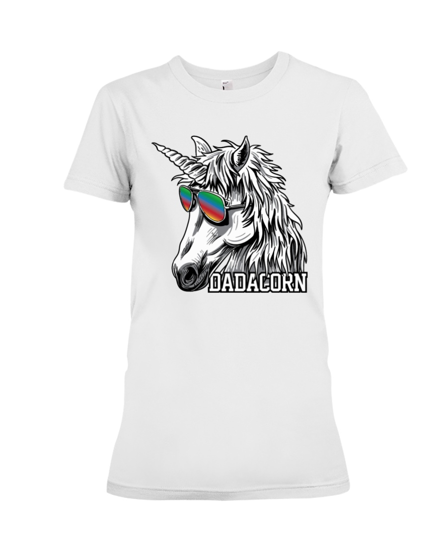 Dadacorn Unicorn Dad T-Shirt Premium Fit Ladies Tee