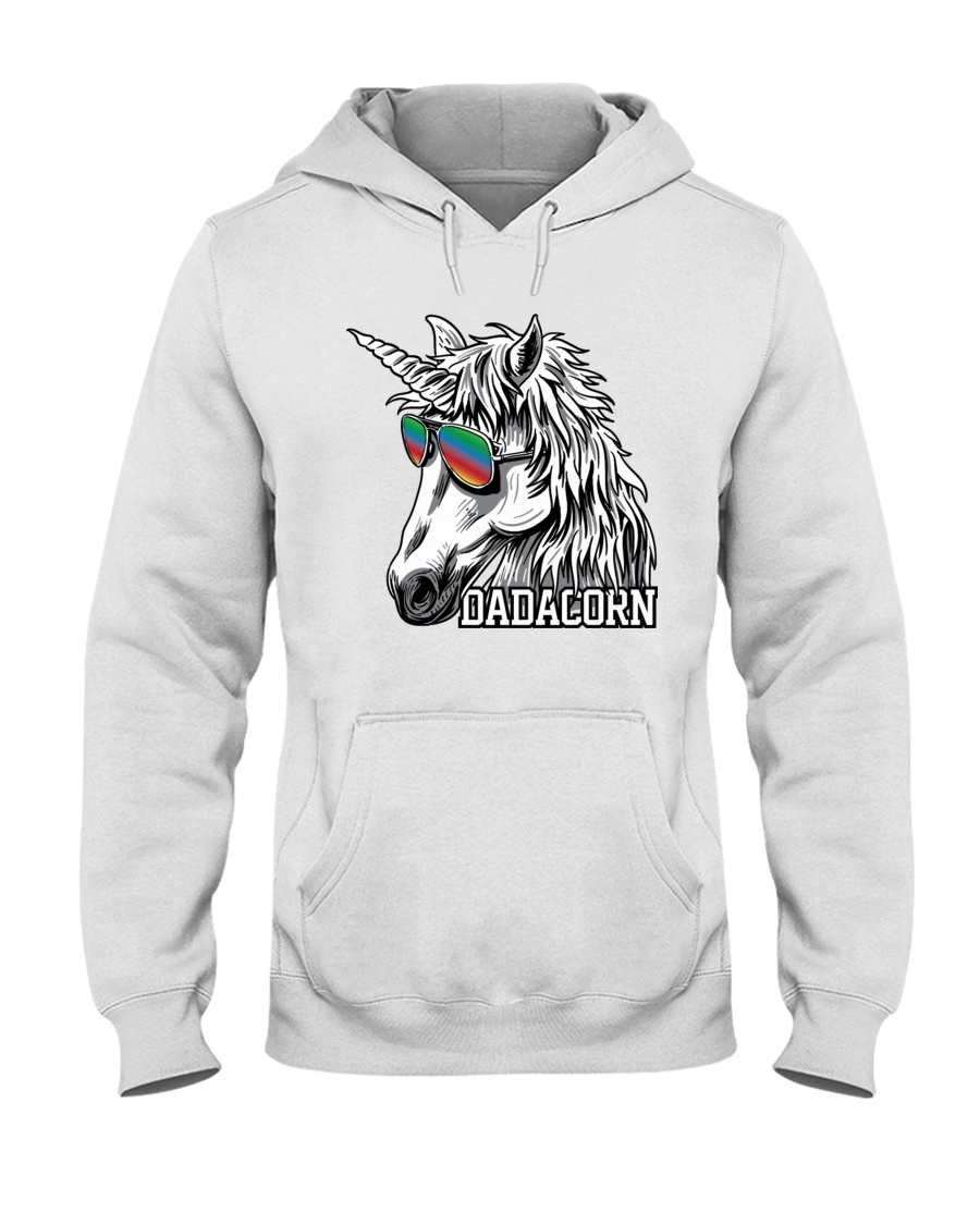 Dadacorn Unicorn Dad T-Shirt Hooded Sweatshirt