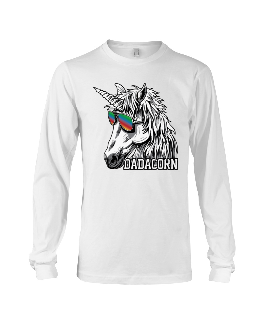 Dadacorn Unicorn Dad T-Shirt Long Sleeve Tee