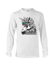 Dadacorn Unicorn Dad T-Shirt Long Sleeve Tee front