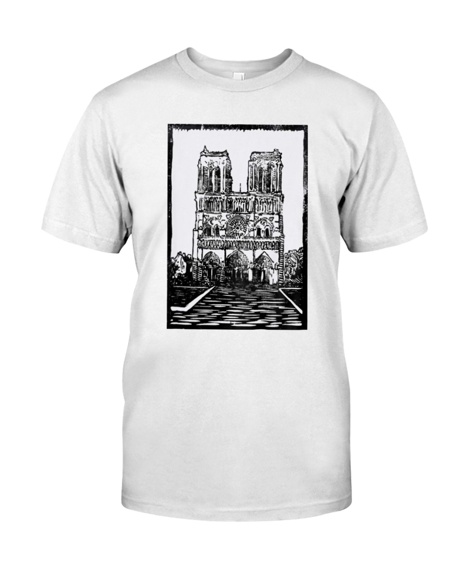 Notre Dame Cathedral Paris Shirt Classic T-Shirt