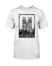 Notre Dame Cathedral Paris Shirt Classic T-Shirt front