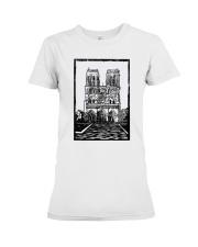 Notre Dame Cathedral Paris Shirt Premium Fit Ladies Tee thumbnail