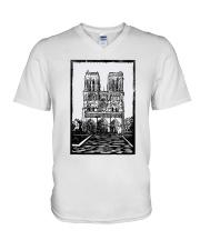 Notre Dame Cathedral Paris Shirt V-Neck T-Shirt thumbnail