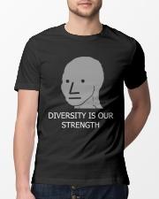 Diversity is Strength NPC Meme Shirt Classic T-Shirt lifestyle-mens-crewneck-front-13