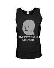 Diversity is Strength NPC Meme Shirt Unisex Tank thumbnail