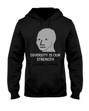 Diversity is Strength NPC Meme Shirt Hooded Sweatshirt thumbnail