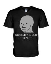 Diversity is Strength NPC Meme Shirt V-Neck T-Shirt thumbnail