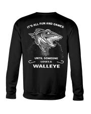 Someone Loses A Walleye Crewneck Sweatshirt back