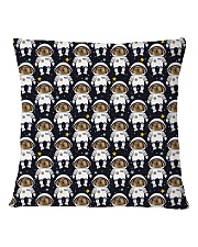 Space dogs all over print T-shirt Square Pillowcase back