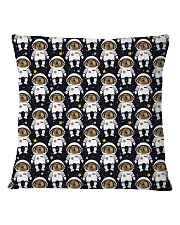 Space dogs all over print T-shirt Square Pillowcase front