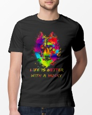 Life is better with a Husky Classic T-Shirt lifestyle-mens-crewneck-front-13