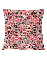 Cat  all over print T-shirt Square Pillowcase back