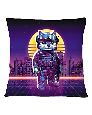 80s Retro Cat Soldier Square Pillowcase back
