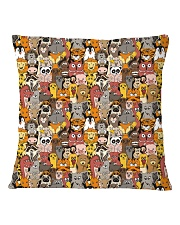 Animal all over print T-shirt Square Pillowcase back