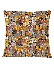 Animal all over print T-shirt Square Pillowcase front