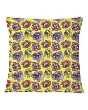 Dog  all over print T-shirt Square Pillowcase back
