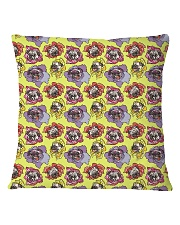Dog  all over print T-shirt Square Pillowcase front