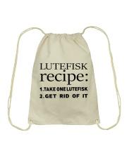LUTEFISK recipe Drawstring Bag thumbnail