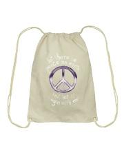 Let there be peace Drawstring Bag thumbnail