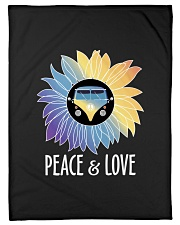 "Peace  Love Small Fleece Blanket - 30"" x 40"" thumbnail"