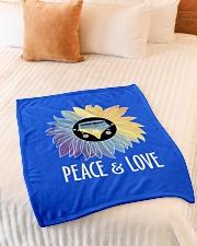"Peace  Love Small Fleece Blanket - 30"" x 40"" aos-coral-fleece-blanket-30x40-lifestyle-front-01"
