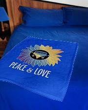 "Peace  Love Small Fleece Blanket - 30"" x 40"" aos-coral-fleece-blanket-30x40-lifestyle-front-02"