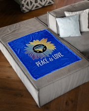 "Peace  Love Small Fleece Blanket - 30"" x 40"" aos-coral-fleece-blanket-30x40-lifestyle-front-03"