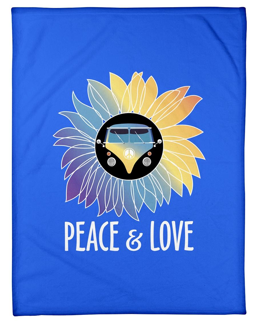 """Peace  Love Small Fleece Blanket - 30"""" x 40"""""""