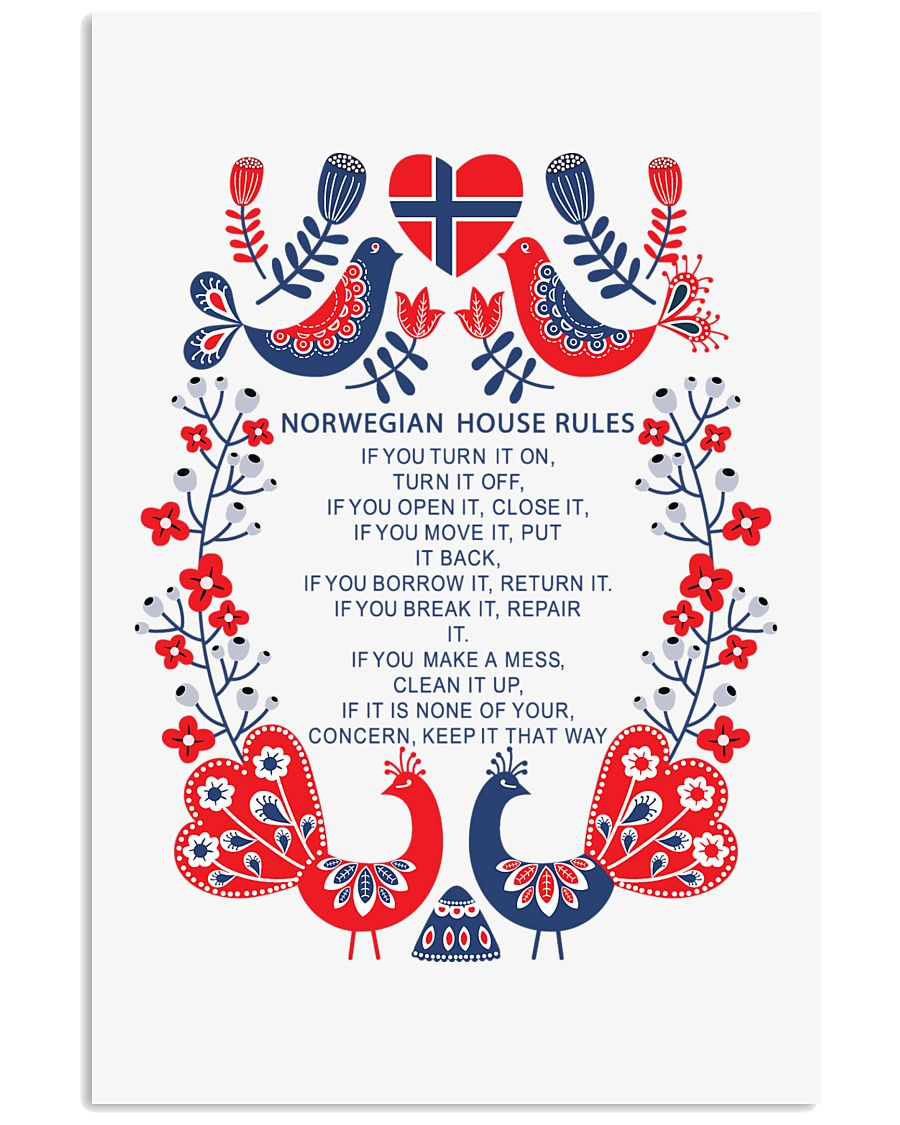 Norwegian House Rules 11x17 Poster
