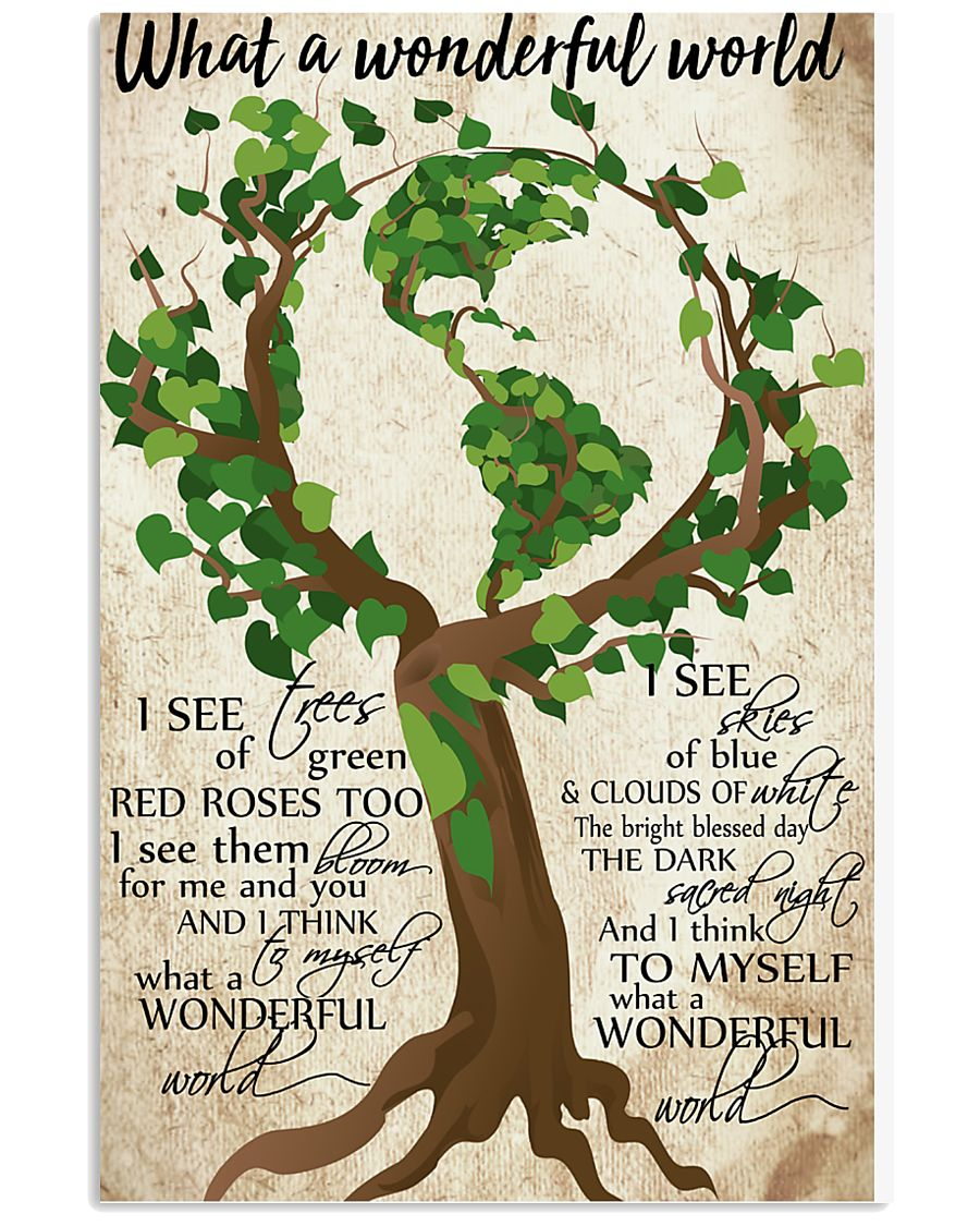 What A Wonderful World Poster 11x17 Poster