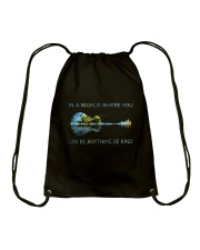 In A World Where You Can Be Anything  Drawstring Bag thumbnail