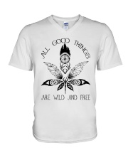 All Good Things Are Wild V-Neck T-Shirt thumbnail