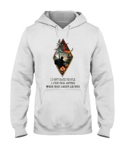 I Don't Hate People Hooded Sweatshirt front