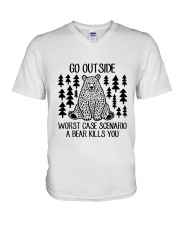 A Bear Kills You V-Neck T-Shirt thumbnail