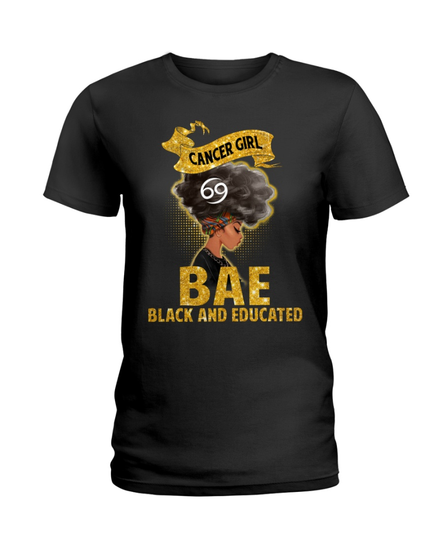 Cancer Black And Educated - Limited Edition Ladies T-Shirt
