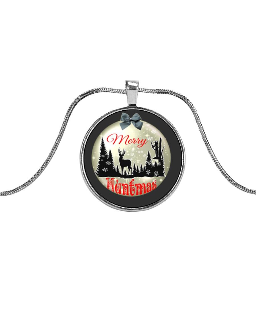Merry Huntmas Metallic Circle Necklace