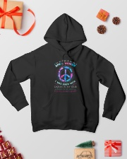 April Woman Hooded Sweatshirt lifestyle-holiday-hoodie-front-2