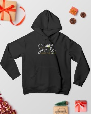 Let Your Smile Change The World 001 Hooded Sweatshirt lifestyle-holiday-hoodie-front-2