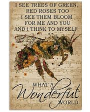 What A Wonderful World Bee 24x36 Poster front