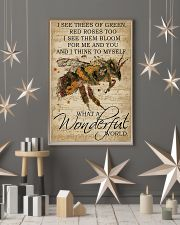 What A Wonderful World Bee 24x36 Poster lifestyle-holiday-poster-1
