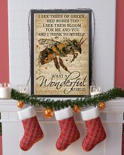 What A Wonderful World Bee 24x36 Poster lifestyle-holiday-poster-4