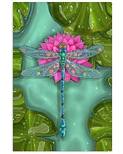 Dragonfly Lotus Vertical Poster tile