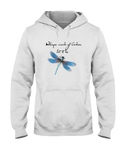 Dragonfly Whisper Words Of Wisdom Let It Be Hooded Sweatshirt front