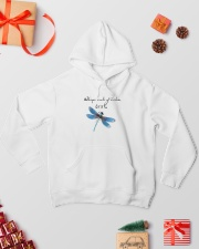 Dragonfly Whisper Words Of Wisdom Let It Be Hooded Sweatshirt lifestyle-holiday-hoodie-front-2