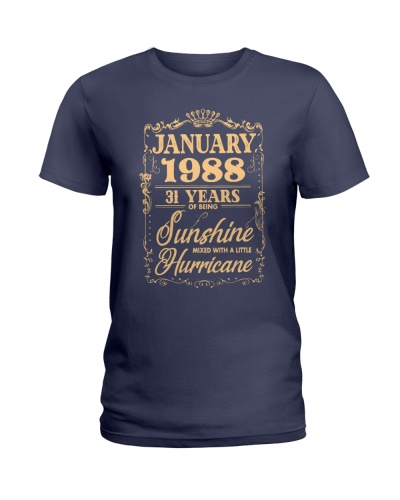 JANUARY 1988 31 YEARS SUNSHINE HURRICANE