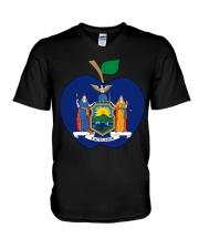 New York Teacher For National Teacher Day Shirt V-Neck T-Shirt thumbnail