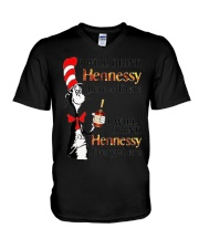 I Will Drink hennessy Here Or There Shirt V-Neck T-Shirt thumbnail