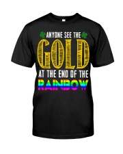 LuckyAnyone Gold Rainbow StPatricks  Classic T-Shirt front
